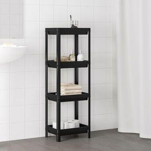 VESKEN Shelf unit, black - 14 1/8x9x39 3/8, NWT